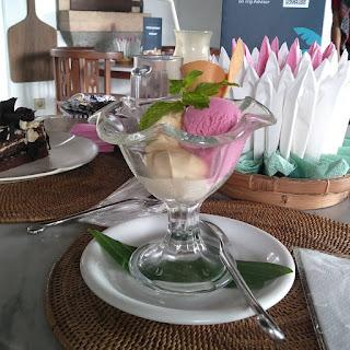 ice cream home made di Gadjah Wong Resto