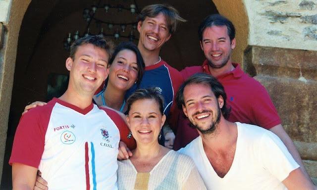 Maria Teresa, Prince Guillaume, Prince Felix, Prince Louis, Princess Alexandra and Prince Sebastien