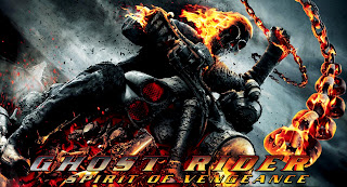 Ghost Rider Spirit of Vengeance 3D Movie 2012 Flaming Skull Poster Wallpaper in HD