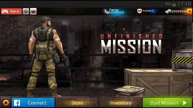لعبة القنص unfinished mission للاندرويد
