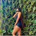 Chika Ike slays in black swimsuit