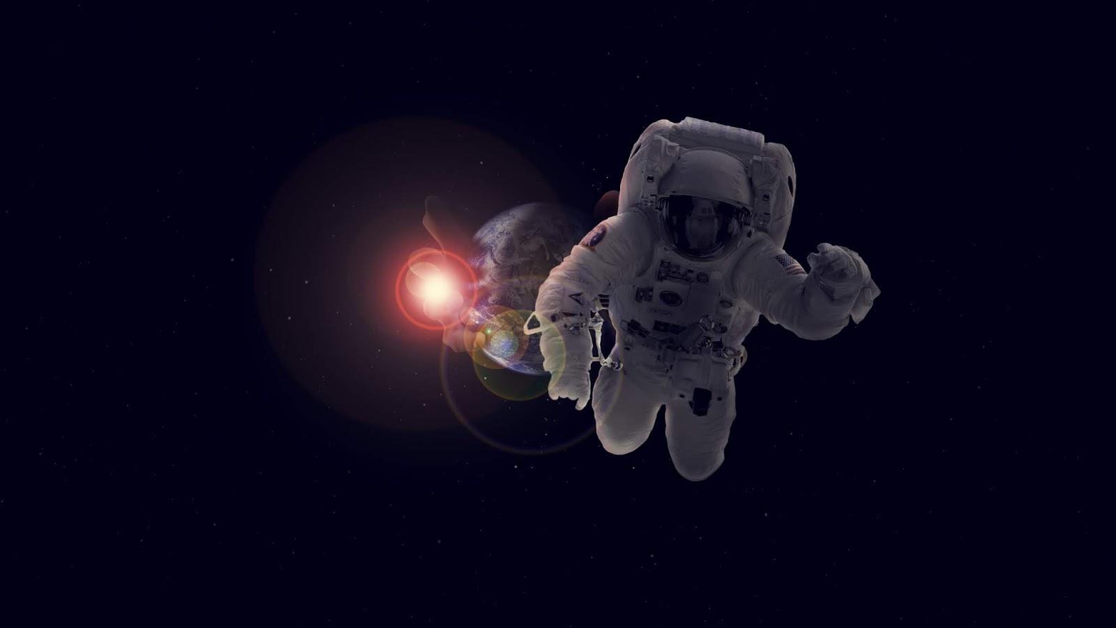 Astronaut, Deep Space, Flare, 4K, Space