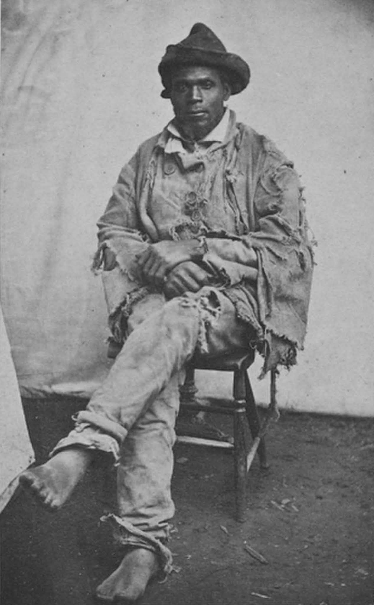Gordon in 1863, just after he reached a Union Army camp in Baton Rouge, Louisiana.