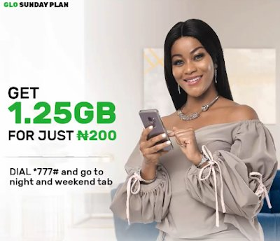 Glo 1.25GB For 200 Sunday Data Plan