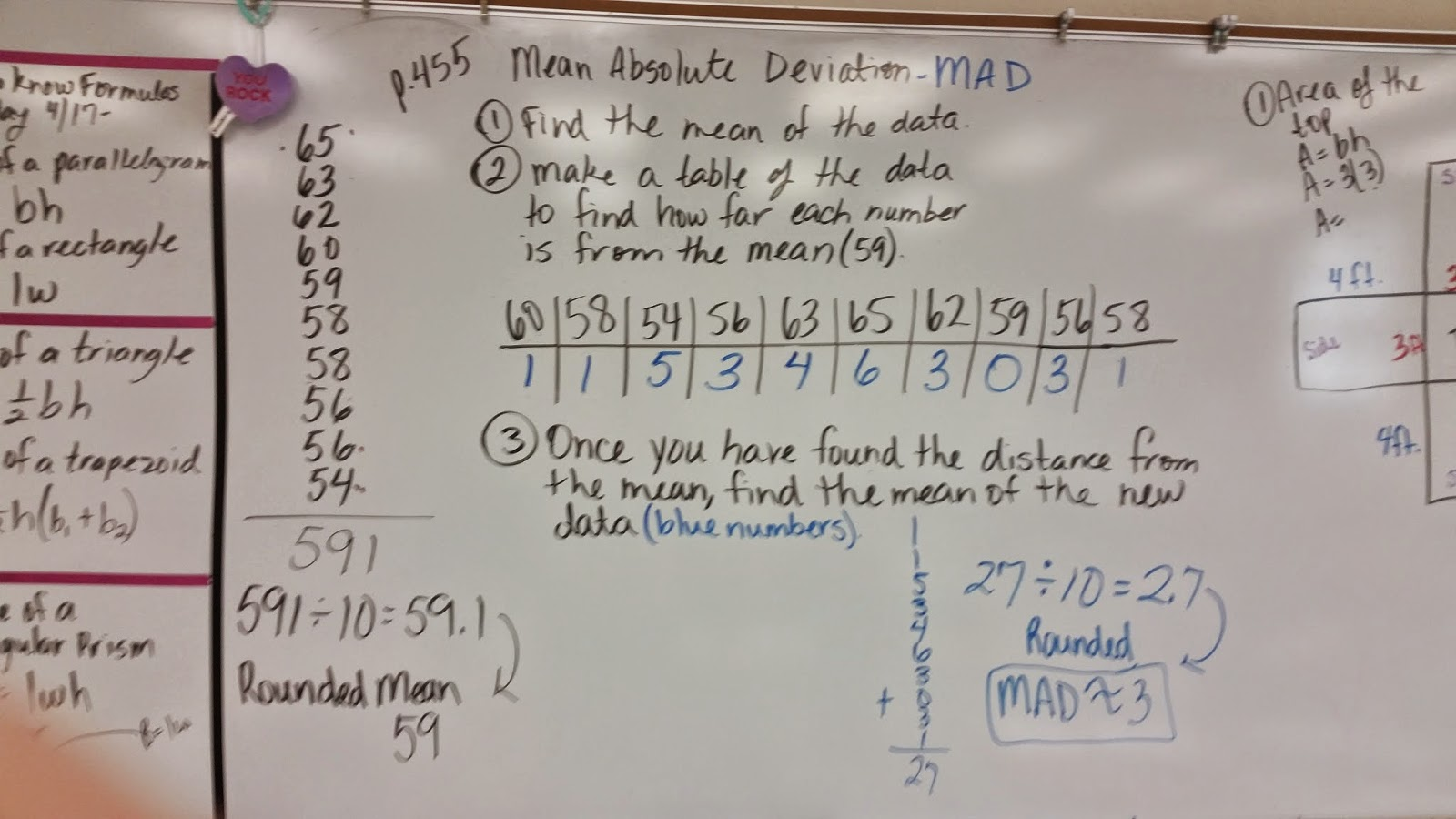 Mrs Negron 6th Grade Math Class Notes For Mean Absolute