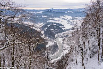 Ostatni rzut oka na dolinę Dunajca