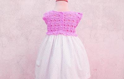 6 - Crochet Imagen Falda para canesú rosa a crochet y ganchillo por Majovel Crochet