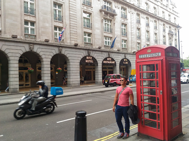 ritz hotel and telephone booth london