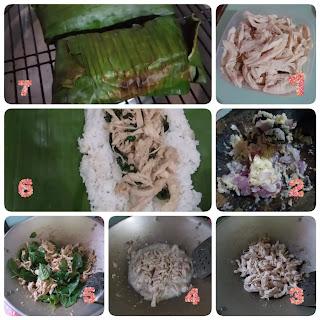 cara membuat nasi bakar ayam kemangi