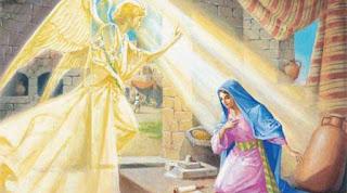 L'arcangelo Gabriele annuncia alla Vergine Maria che diventerà la madre di Nostro Signore Gesù