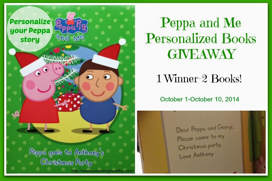 Peppa and Me Personalized Books Giveaway