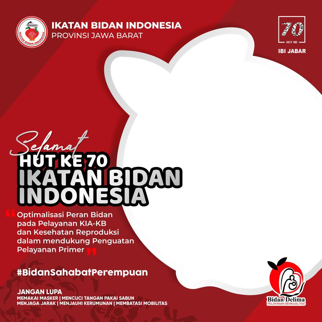 Link Bingkai Foto Twibbon Selamat HUT ke-70 Ikatan Bidan Indonesia (IBI) Provinsi Jawa Barat