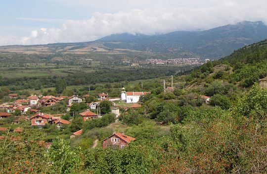 Widok na Stob w okolicy cerkwi św. Prokopa.