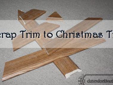 Scrap Trim to a Christmas Tree