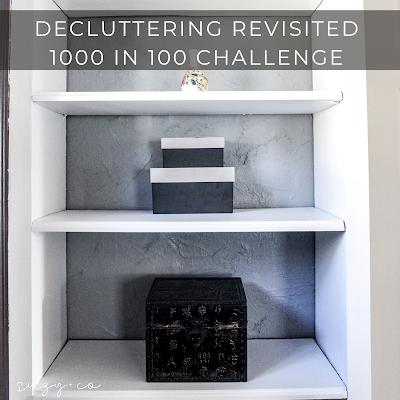 decluttering challenge - 1000 in 100