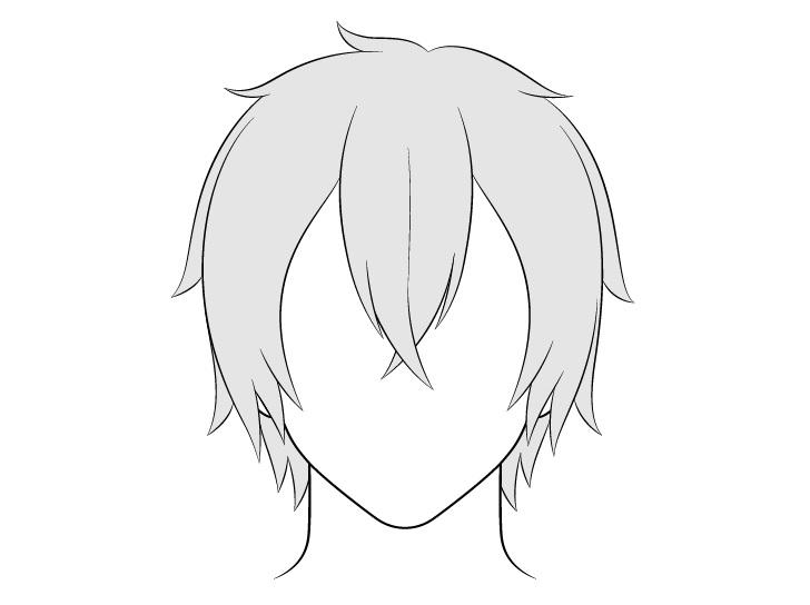 Anime gambar rambut laki-laki panjang menengah