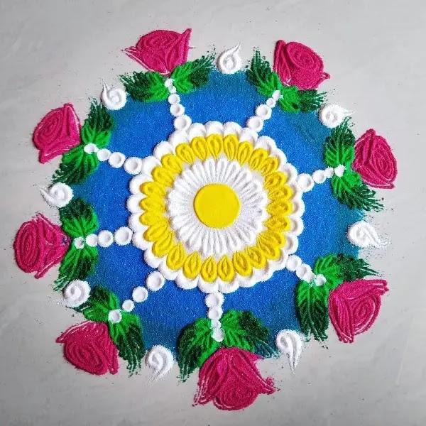 Beautiful_rose_flowers_with_dot_rangoli_design