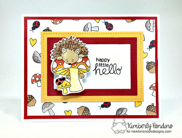 hedgehog hollow | hedgehog | mushrooms | handmade card | cardmaking | papercraft | clear stamps | newton's nook designs | kimpletekreativity.blogspot.com