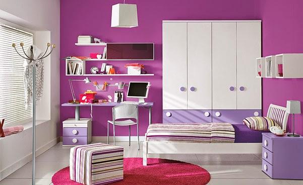 Habitaciones para adolescentes en color morado  Ideas