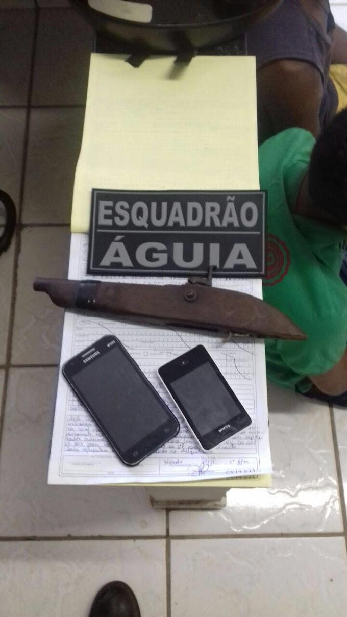 CAXIAS: Esquadrão Águia apreende menores por roubo de celulares