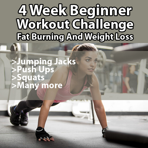 4 Week Beginner Workout Challenge: Fat Burning And Weight Loss