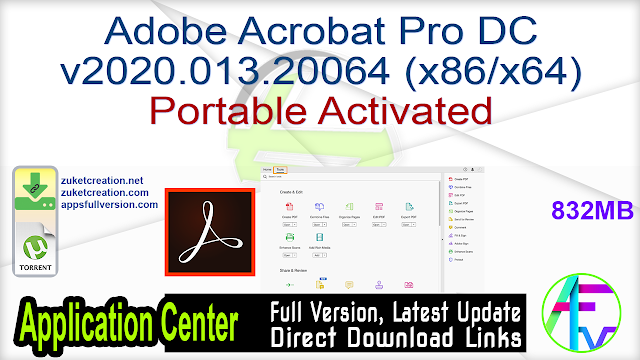 Adobe Acrobat Pro DC v2020.013.20064 (x86 x64) Portable Activated