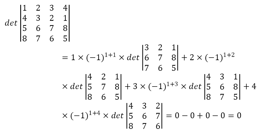 Determinante via Teorema de Laplace