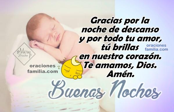 oracion de la noche para dar gracias a Dios descansar
