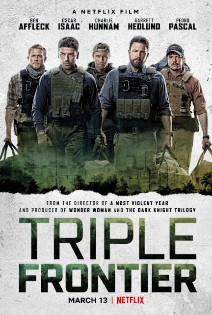 Triple Frontier (2019) 720p HEVC WEB-HDRip x265 Esub [Dual Audio] [Hindi – English] – 650 MB
