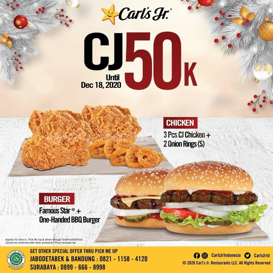 Carl's Jr Promo CJ Makan Berdua hanya Rp 50.000