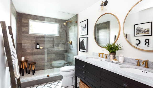 renovated  non  worried for  first establish a budget before full-scale remodeling, you should pick a style bathrooms