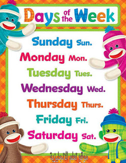 ايام الاسبوع