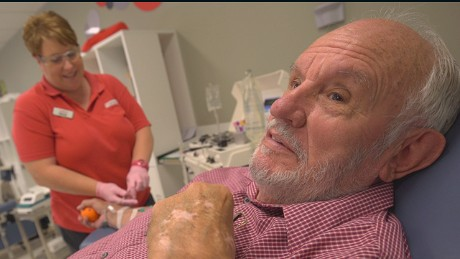 At the age of 13, James Harrison promised to be donate blood when he grew up. Today, at the age of 80, he has saved more than 2 million lives