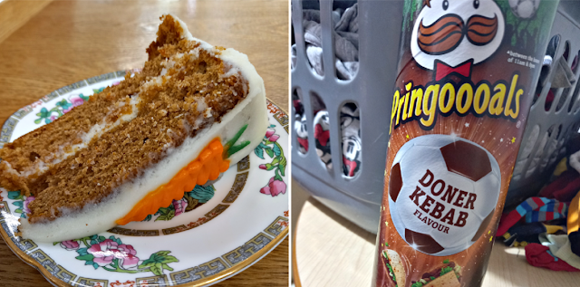 Carrot cake and Pringles