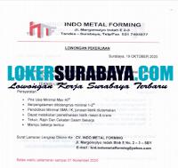 Lowongan Kerja di Indo Metal Forming Surabaya Oktober 2020