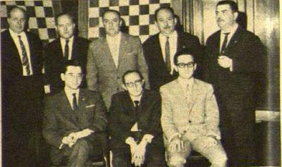 Equipo del Club Ajedrez Español en 1966