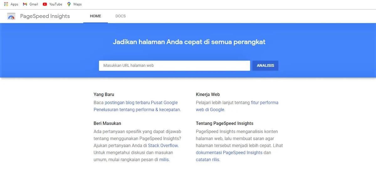 Google PageSpeed Insight Score