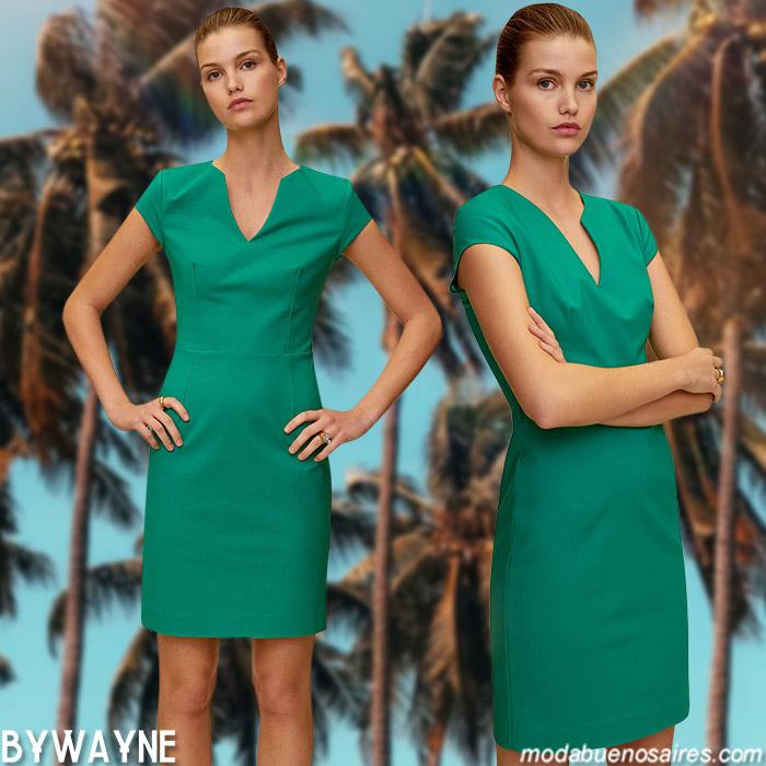 vestidos cortos casuales primavera verano 2021