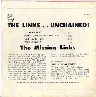 The Missing Links - The Links Unchained (EP 1966)  &  Diggin Through The Bins (LP1966)