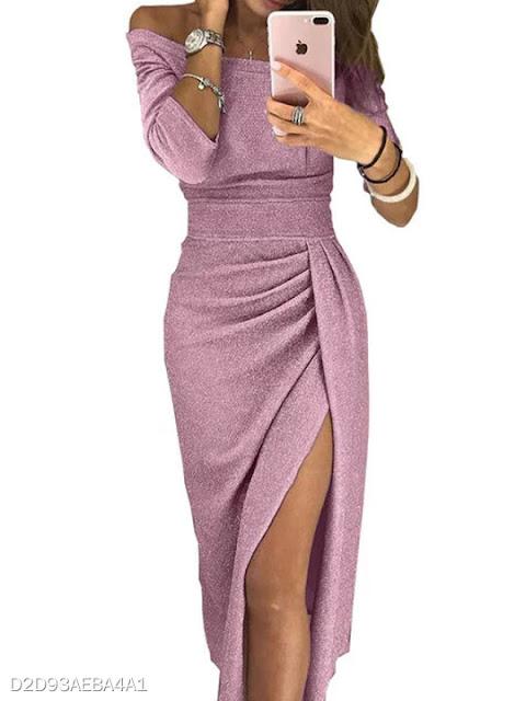 outfit abito rosa lame abiti aderenti berrylook