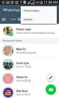 Cara Menyembunyikan Status Whatsapp Dari Kontak Orang Tertentu