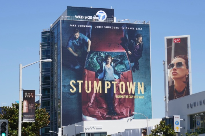 Stumptown series premiere billboard