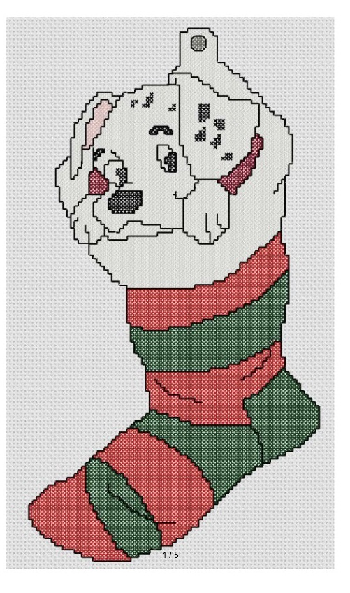 Disney Cross Stitch Christmas Stocking Patterns.Cross Stitch Fan Disney Dalmation In Christmas Stocking