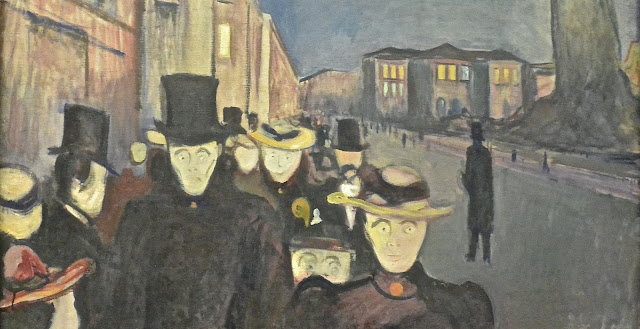 Musée des beaux-Arts de Bergen Edvard Munch; soirée sur l'avenue karl Johan 1892