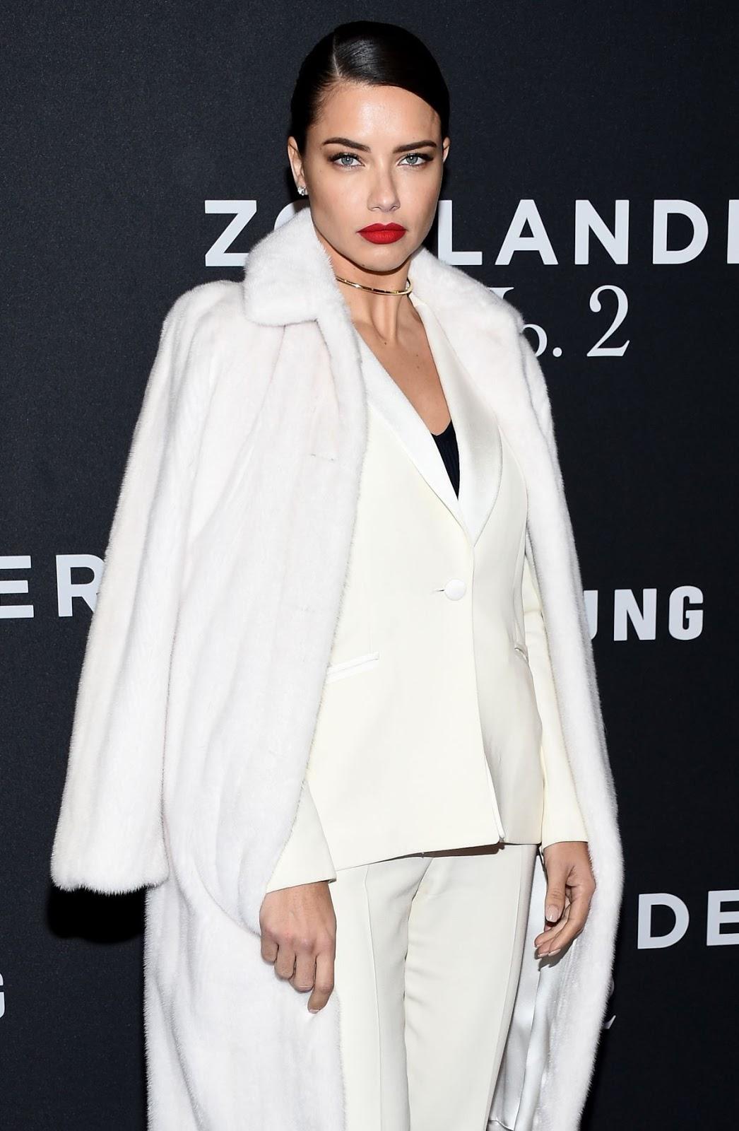 Brazilian Victoria's Secret Fashion Show Model Adriana Lima at Zoolander 2 New York Premiere