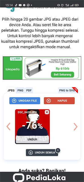 Cara Memperkecil Ukuran KB Foto di HP Tanpa Aplikasi
