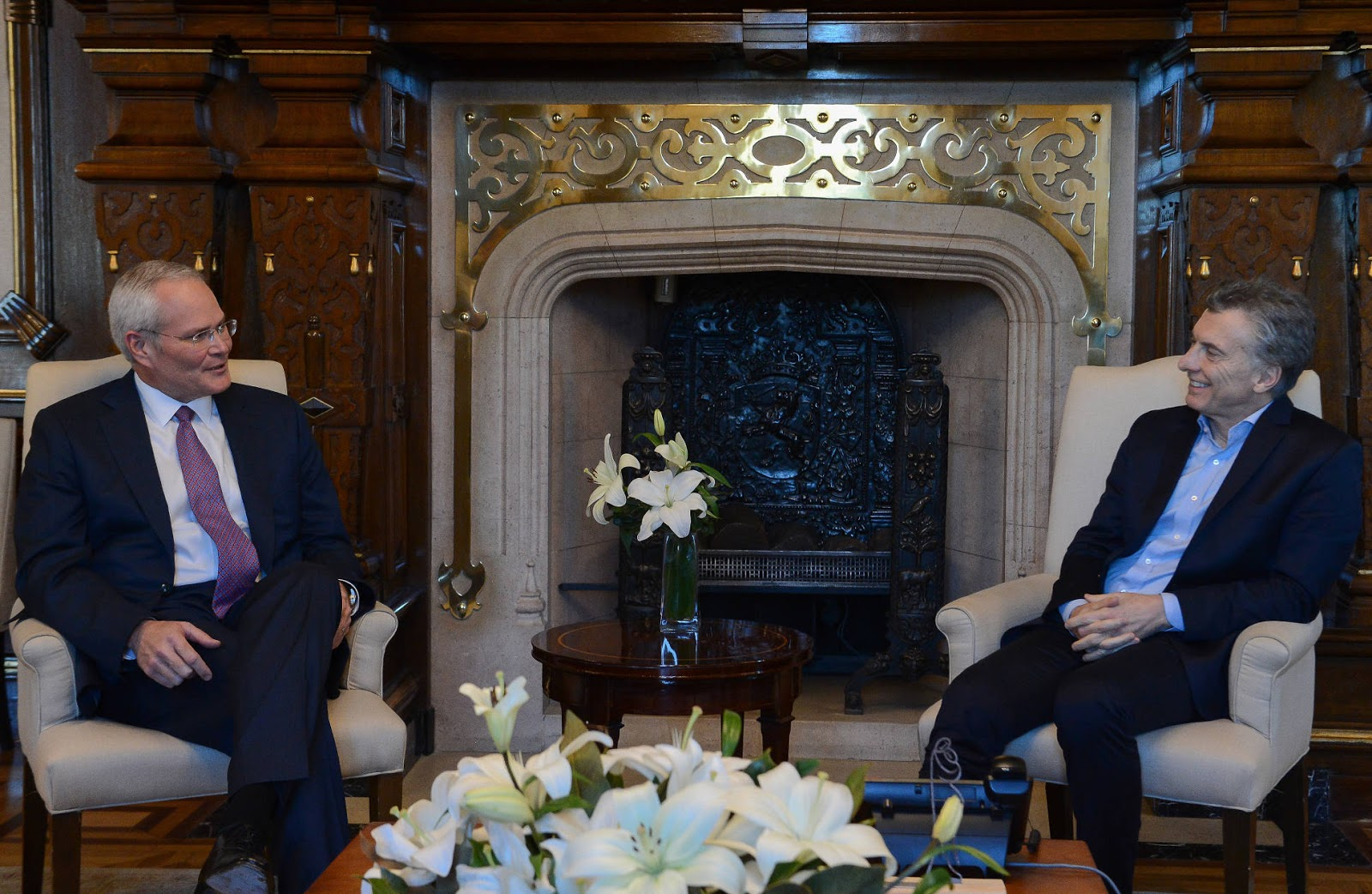 Mauricio Macri recibió al presidente de la empresa Exxon Mobil ...