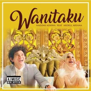 Lagu ini masih berupa single yang didistribusikan oleh label Aj Music Lirik Lagu Nadzmi Adhwa - Wanitaku (feat. Ardell Aryana)