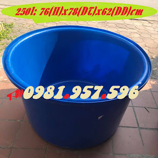 Bể nhựa tròn nuôi cá, bể nhựa nuôi hải sản, thùng nuôi tôm