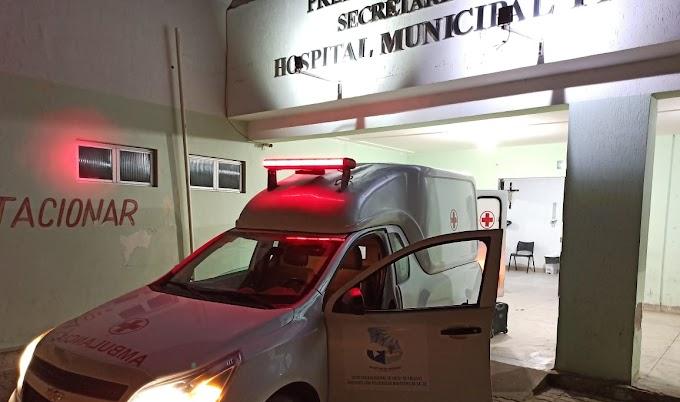 Homem cai de andaime em armazém de sal e é socorrido para o hospital Flaviana Jacinta em Grossos